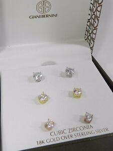 220fcfb53 Giani Bernini 3-Pc. Set Cubic Zirconia Stud Earrings in Sterling ...
