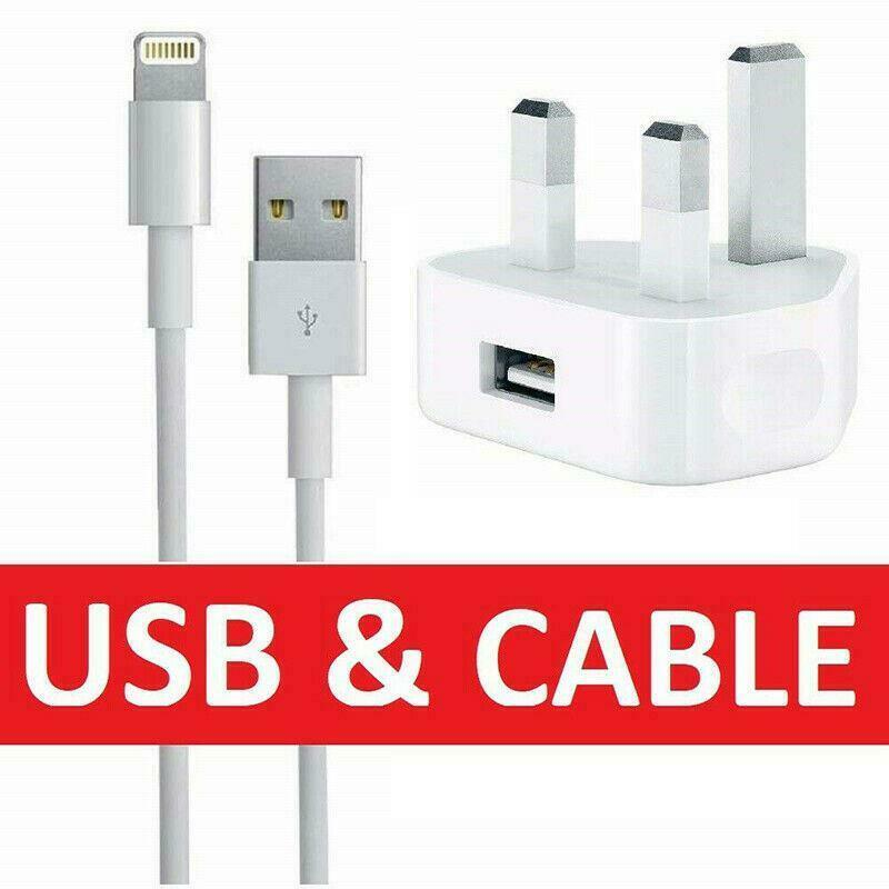 Details about 100% Genuine CE Charger Plug & USB Sync Cable for Apple iPhone 5 S 6 7 Plus iPad