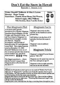 Magnum Pi Episodenguide