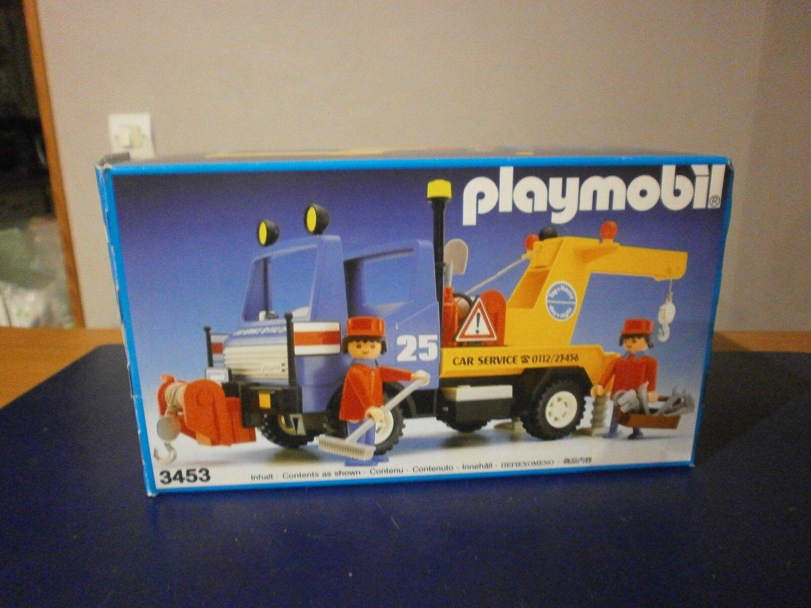 Rare cette boîte PLAYMOBIL la dépaneuse car service réf 3453 de 1986 (complet)