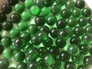 25 Clair Vert Bouteille Verre Billes 16 Mm Intemporel Traditionnel Jouet/jeu Art-afficher Le Titre D'origine Marchandises De Haute Qualité