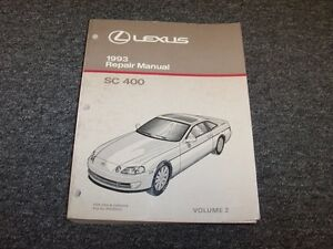 1993 lexus sc400 coupe workshop shop service repair manual book vol2 rh ebay com lexus sc 400 repair manual lexus sc400 repair manual pdf