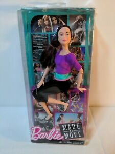 Barbie Made To Move  Purple Top Yoga Doll New Broken Box