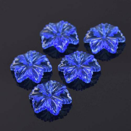 24x22mm Lampwork Glass Snowflake Flower Charms Loose Pendant Craft Beads