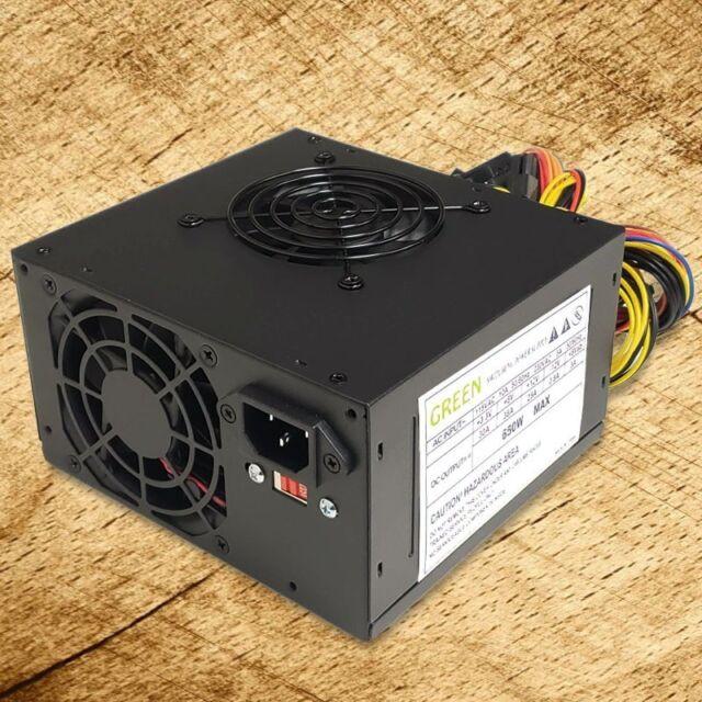 SATA /& PCIe Brand NEW--Green Black 650w-Max MICRO ATX Power Supply 20+4pin