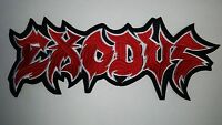 Exodus Red And White Logo Shaped Embroidered Back Patch