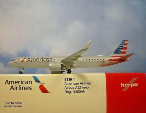 Herpa Wings 1:500 airbus a321neo americanairlines n400an 533911 modellairport 500
