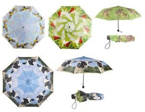 1-Taschenschirm-Vogel-Kaefer-Hasen-Kuh-Tiere-Tier-Schirm-Schirme-Regenschirm-neu