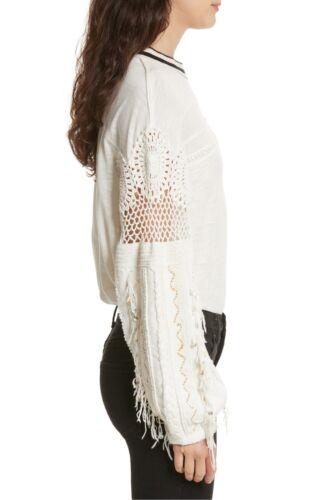 L Hvid Mennesker Kvinder Størrelse Shirt Gratis Udsmykket Hæklet Nye Top Marakesh HwxvUqWWP0