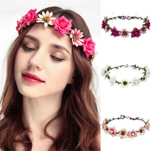 17a0e14459e Women s Bridal Headband Flower Hairband Garland Crown Hair Wreath ...