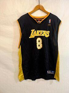Kobe Bryant Vintage Rare Reebok Lakers Jersey #8 Black Size 2XL ...