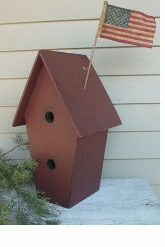 Primitive Grungy  Large Birdhouse with two holes Pattern//Plan WN110