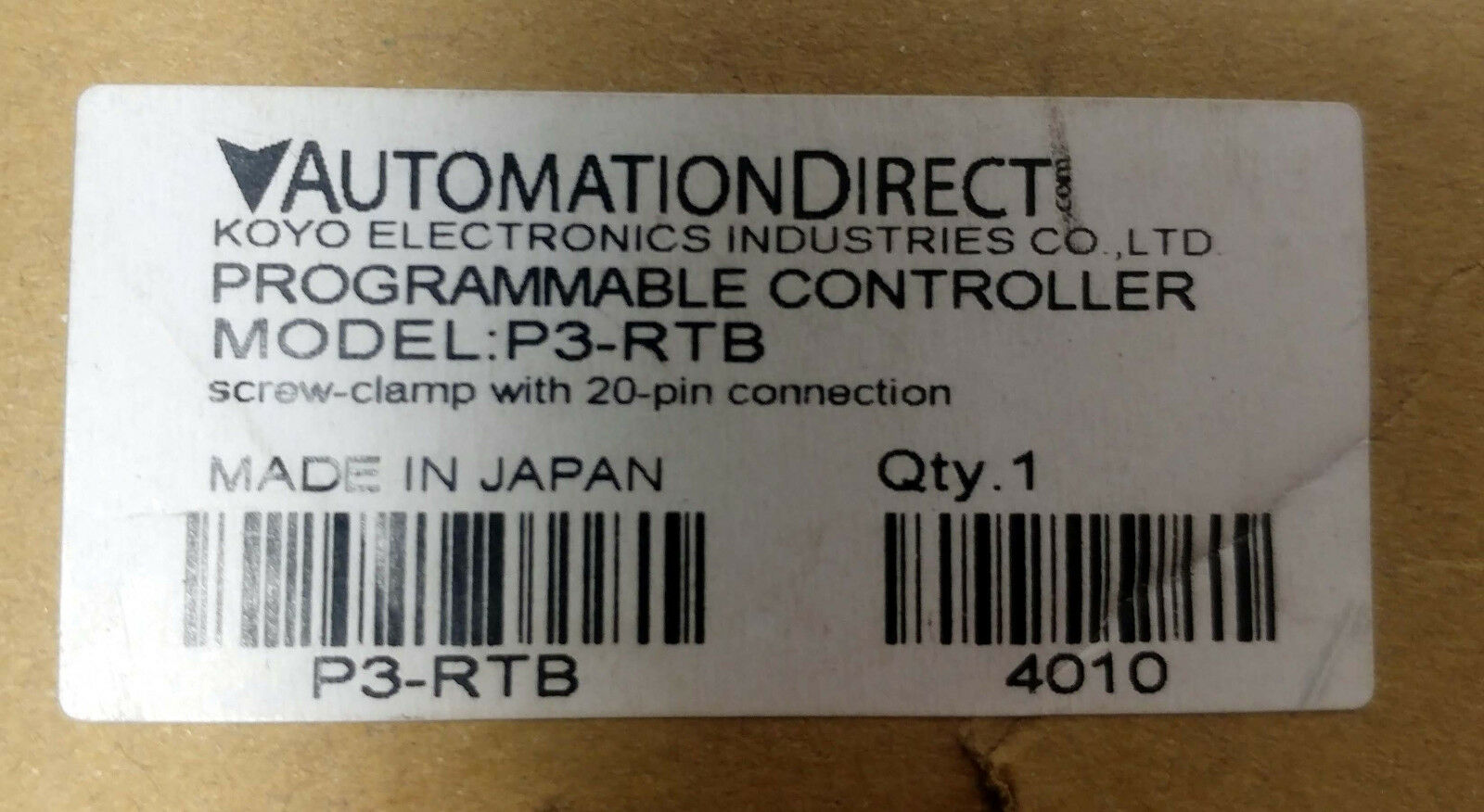 AUTOMATION DIRECT P3-RTB NEW IN BOX P3RTB
