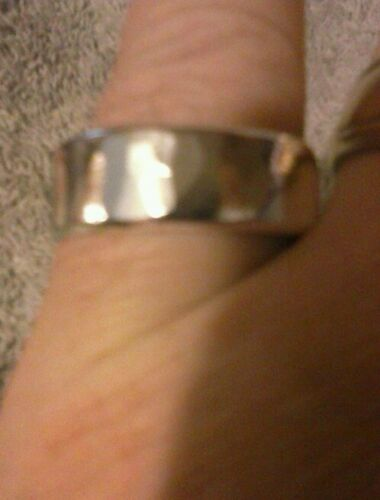 PURE SILVER .999 SZ9-13 8-9mm EXTRA WIDE  HAMMERED RING ANARCHY PM JEWELRY #C23
