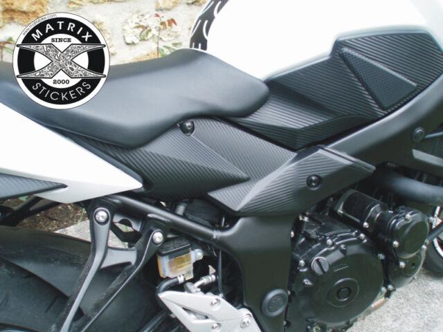 Kit de PROTECTIONS type CARBONE pour caches latéraux GSR 750 Suzuki