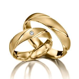 2-Trauringe-ECHT-GOLD-Massiv-Eheringe-Gelbgold-Gravur-PAARPREIS