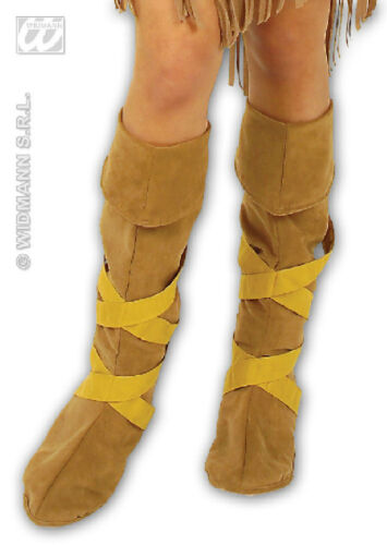 Indian Hippy Cavewoman Boot Top Covers Fancy Dress Accessory