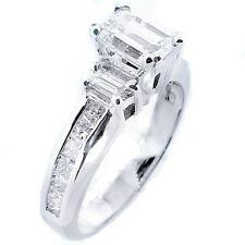 3.41 Ct. Emerald Cut Diamond Engagement Ring Solitaire