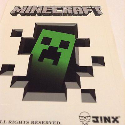 Pegatina/sticker/Autocollant: Minecraft Logo +1 Imágen Grande 11cms X 10,3cms.
