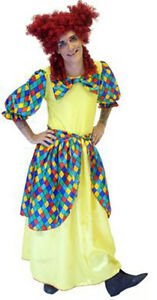 PANTOMIME-DAME-WIDOW-TWANKY-FANCY-DRESS-COSTUME-YELLOW-WITH-WIG-SIZE-S-XXXXL
