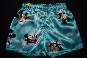 Boy's Mickey Mouse Satin Boxer Shorts, size 3, 4, 5, - handmade