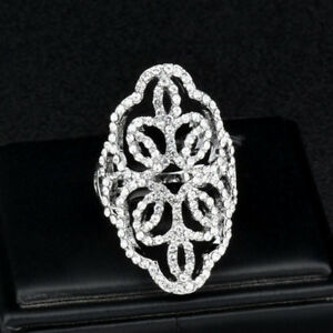 Fashion-Hollow-Flower-Cubic-Zirconia-Big-Silver-Rings-Women-Jewelry-Size-7-8-9