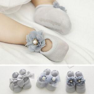 Delicate Lace Bowknot Shoe Sock Cotton Floor Socks Bow Baby Girl Floor Sock S