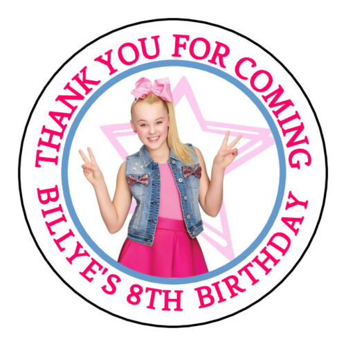Jojo Siwa Birthday Sticker Labels Kiss Bubble Tags Personalized VARIETY OF SIZES