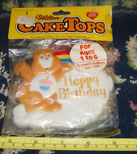 Vintage NEW NOS Wilton Cake Tops Care bears Cake Decorating Happy Birthday Bear
