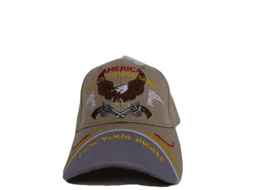 2nd Amendment America Stick to your Guns It/'s your right Khaki Cap CAP972B Hat
