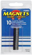 "0.472/"" Diameter Ceramic Disc Magnet Pack of 10 0.197/"" Thick"
