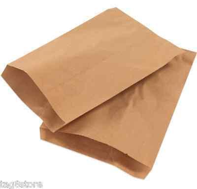50 Lot 6x9 BROWN Flat Paper Bag Merchandise KRAFT Party Favor TREAT Gift RETAIL