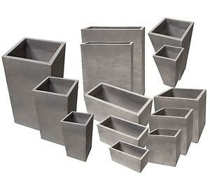 pflanzk bel blumentopf blumenk bel pflanztrog pflanzgef e neu beton zement grau. Black Bedroom Furniture Sets. Home Design Ideas