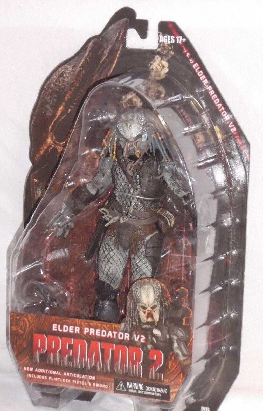 Comme neuf dans emballage scellé NECA prougeator Series 12 ELDER V2 Cult Alien film d'horreur 7  Action Figure