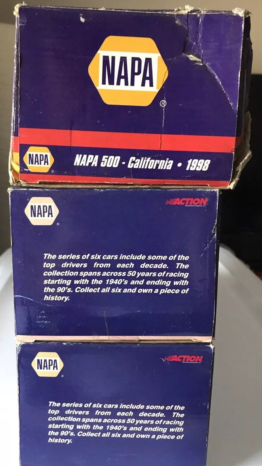 Lot Of 3 NAPA Diecast Cars-2 NASCAR 50th Edition Anniversary Anniversary Anniversary a39aed