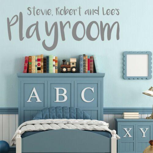 Personalised Playroom Name Wall StickerDecal Bespoke Custom Made Vinyl