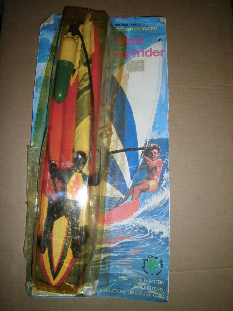 Action Wind Surfer Rider Real Battery Operated Vintage Toy