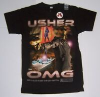 Usher Omg Men's Black Short Sleeve Slim Fit T-shirt Size Small
