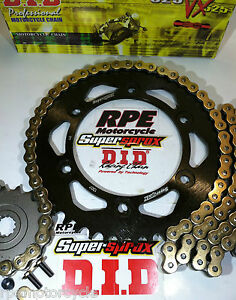 HONDA-CBR600RR-039-03-06-DID-GOLD-X-Ring-QUICK-ACCELERATION-CHAIN-AND-SPROCKETS-KIT