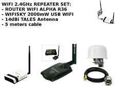Antenna 2.4Ghz Omni Wifi Signal Receiver  Share cable with WIFISKY + ALFA R36