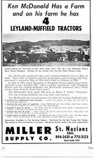 1971 small Dealer Print Ad of Miller Supply Co Leyland Nuffield 344 4/65 Tractor