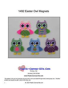 Easter Owl Wall Hanging-Plastic Canvas Pattern or Kit