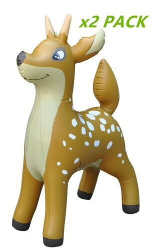 """2 Inflatable Deer Animal Home Yard Decor Holiday Gift Party Toy Collection 36/"""""""