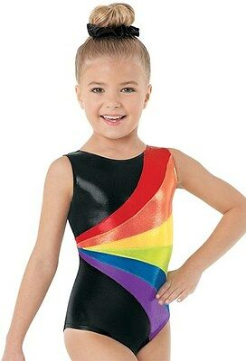 Girls Gymnastics Suit Long Sleeve Hot Stamping Dance Practice Clothes Kids Child