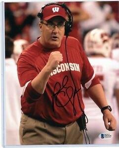 """PAUL CHRYST WISCONSIN BADGERS SIGNED 8""""x10"""" PHOTO w/ BAS ..."""