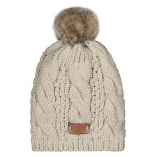 e95e3b2bff169 Aran Traditions Womans Men Winter Warm Knitted Faux Fur Bobble Beanie Hat