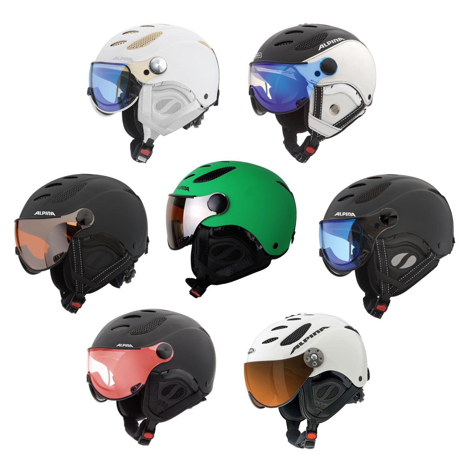 Alpina Jump JV Visor Ski Snowboard Helmet Visor Helmet, Quattroflex Varioflex