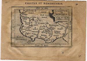 Map Of France Calais.Details About 1609 Genuine Antique Miniature Map Northern France Boulogne Calais Ortelius