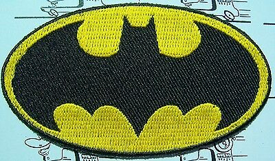 Batman und Superman Aufnäher Aufbügler Applikationen Motive Patches Embroidery