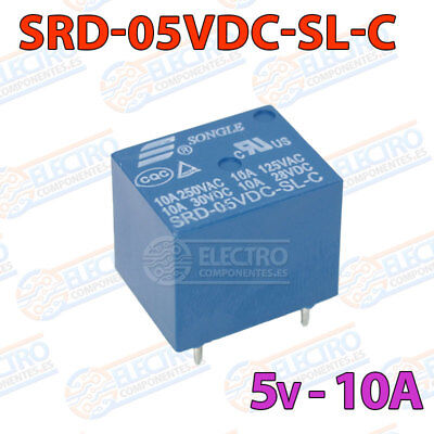 250V Relay 5V 10A Songle SRD-05VDC-SL-C T73 4039Z